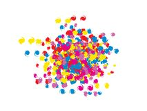 Doodle colorful spirals confetti royalty free illustration