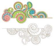 Doodle colorido ilustração do vetor