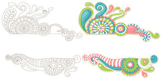 Doodle colorido Imagens de Stock Royalty Free