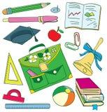 Doodle colorido de la escuela Foto de archivo