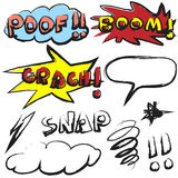 Doodle comic sound effects Royalty Free Stock Image