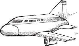 Doodle Commercial Jet Vector Stock Photos