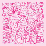 Doodle communication background Royalty Free Stock Photos
