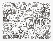 Doodle communication background Stock Images