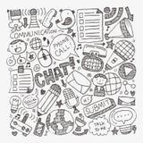 Doodle communication background Stock Image