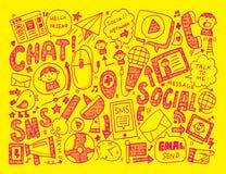 Doodle communication background Royalty Free Stock Image