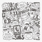 Doodle communication background Royalty Free Stock Images