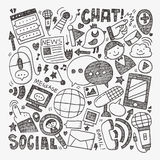 Doodle communication background Stock Image