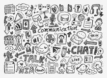 Doodle communication background Stock Photo