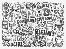 Doodle communication background Stock Photos
