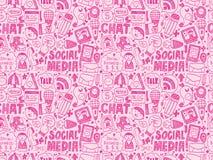 Doodle communication icons set Royalty Free Stock Photo