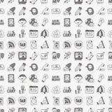 Doodle communication icons set Royalty Free Stock Images