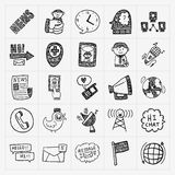 Doodle communication icons set Royalty Free Stock Photos