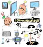Doodle concept of communication Royalty Free Stock Photos