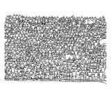 Doodle crowd people on stadium vector illustration sketch hand d. Rawn with black lines isolated on white background stock illustration