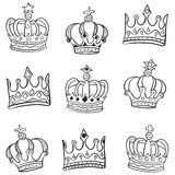 Doodle of crown various style Royalty Free Stock Image