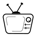 Doodle of CRT TV Isolated on White. Vector Doodle of CRT TV Isolated on White Royalty Free Stock Photography