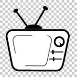 Doodle of CRT TV at Transparent Effect Background. Vector Doodle of CRT TV at Transparent Effect Background Royalty Free Stock Image