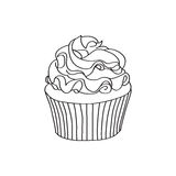 Doodle cupcake Royalty Free Stock Images