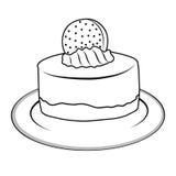 Doodle cupcake Stock Photos