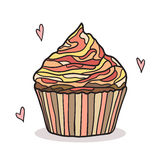 Doodle cupcake Royalty Free Stock Photography