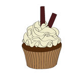 Doodle cupcake Royalty Free Stock Image
