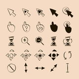 Doodle cursors 25 pieces Royalty Free Stock Images