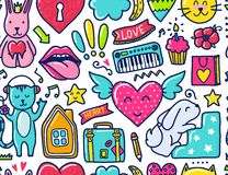 Doodle cute Pattern Royalty Free Stock Photo