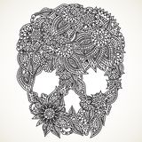 Doodle czaszka Fotografia Royalty Free