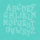 Doodle 3d alphabet Stock Images