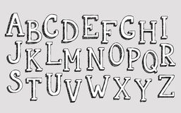 Doodle 3d alphabet Royalty Free Stock Photo