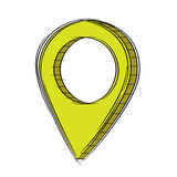 Doodle of 3D Map Pointer Icon.EPS8. Illustration of Cute Cartoon Doodle of 3D Map Pointer Icon. EPS8 Stock Photography