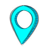 Doodle of 3D Map Pointer Icon.EPS8. Illustration of Cute Cartoon Doodle of 3D Map Pointer Icon. EPS8 Stock Photo