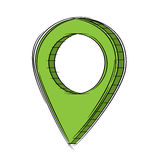 Doodle of 3D Map Pointer Icon.EPS8. Illustration of Cute Cartoon Doodle of 3D Map Pointer Icon. EPS8 Royalty Free Stock Photos
