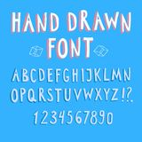 Doodle 3D vector font. Doodle  vector ABC letters.Hand drawn font for your design Royalty Free Stock Photo