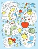 Doodle da escola Foto de Stock
