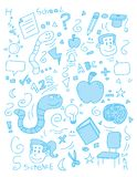 Doodle da escola Imagens de Stock