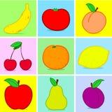 Doodle das frutas Imagens de Stock Royalty Free
