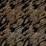 Doodle Dash line Gold pattern.Shining. Black background with strokes and gold glitter. Fashion trendy wallpaper. Golden shiny texture. Modern painted card Royalty Free Stock Images