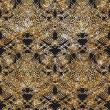Doodle Dash line Gold pattern.Shining. Black background with strokes and gold glitter. Fashion trendy wallpaper. Golden shiny texture. Modern painted card Royalty Free Stock Photography