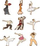 Doodle de dança Foto de Stock Royalty Free