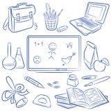 Doodle de la educación Fotografía de archivo