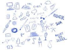 Doodle de la escuela Imagen de archivo libre de regalías