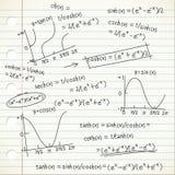 Doodle de la fórmula matemática Fotos de archivo libres de regalías