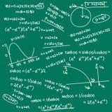 Doodle de la fórmula matemática Imagen de archivo libre de regalías
