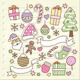 Doodle de la Navidad Imágenes de archivo libres de regalías