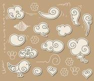 Doodle de la nube Imagen de archivo
