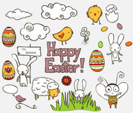 Doodle de Pascua Fotografía de archivo