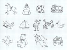 Doodle dei giocattoli Immagini Stock Libere da Diritti