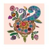 Doodle dekoracyjny ornament Fotografia Stock
